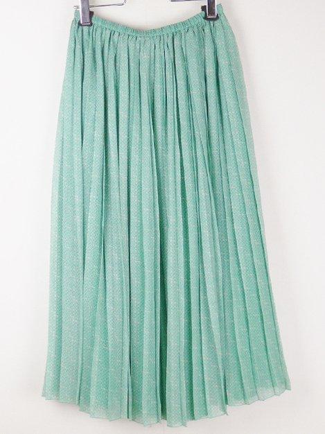 18AW フラワーシルクプリーツスカート