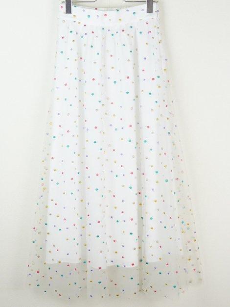 19SS ドットギャザースカート