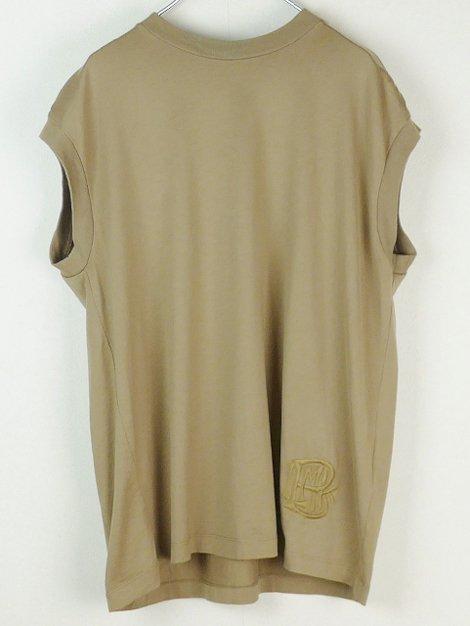 定番 ロゴ刺繍ノースリーブTシャツ