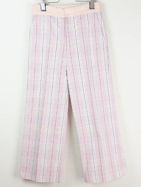 19SS タータンチェックワイドパンツ(ピンク)