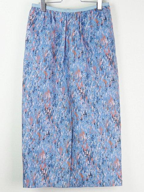 20SS シルクプリントセミタイトスカート