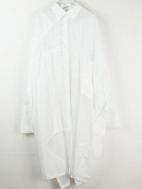 20SS パッチワークレースドレス