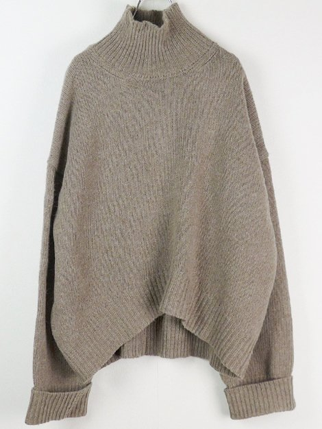 19AW HighNeck Knit Oatmeal