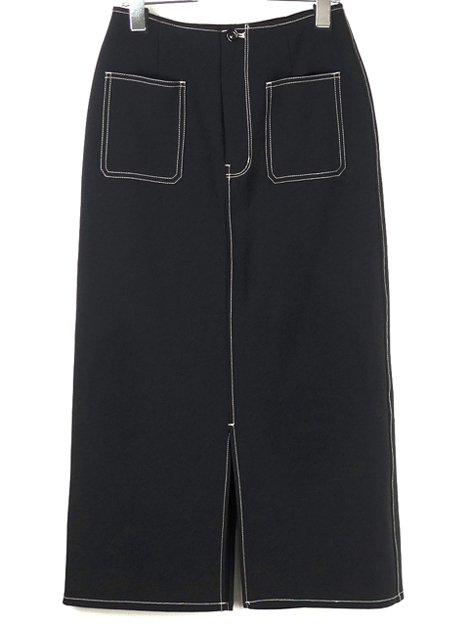 19AW センタースリットスカート ブラック