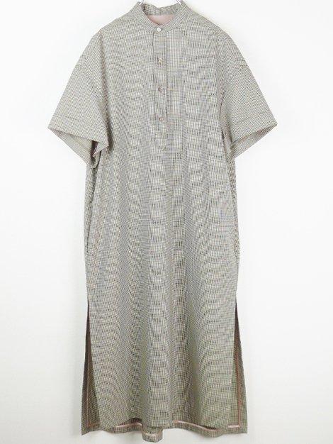 20SS チェックショートスリーブシャツドレス