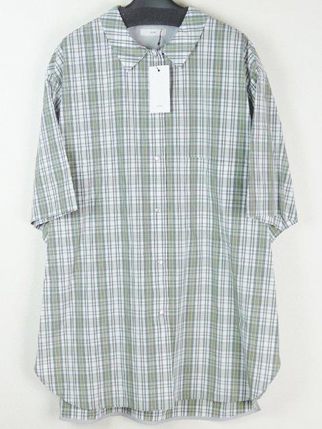 20SS ステンカラーチェックシャツ