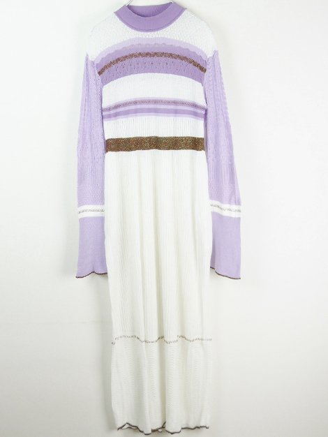 19SS Nostalgic Pattern Knit Dress