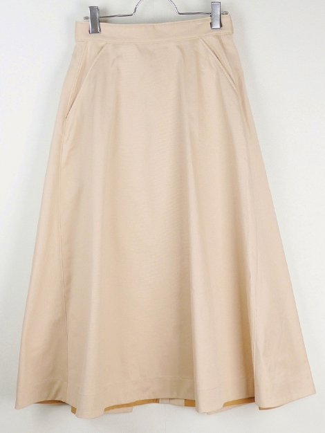 19SS コットンツイルフレアスカート