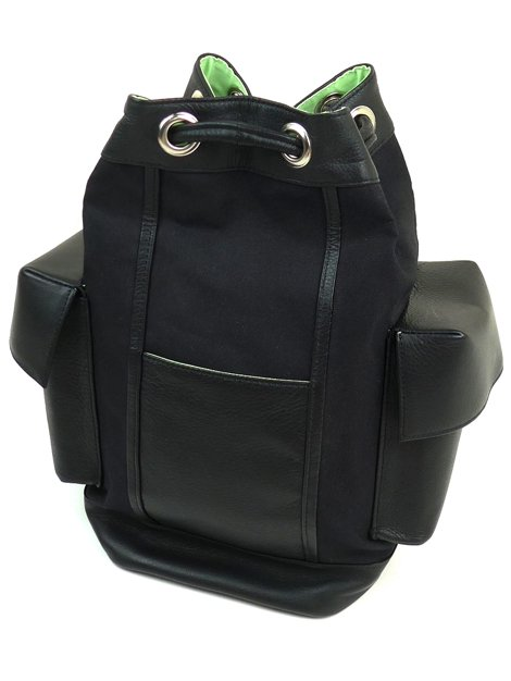 19SS Canvas leather backpack