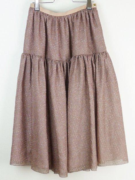 21SS シルクカットジャカードスカート