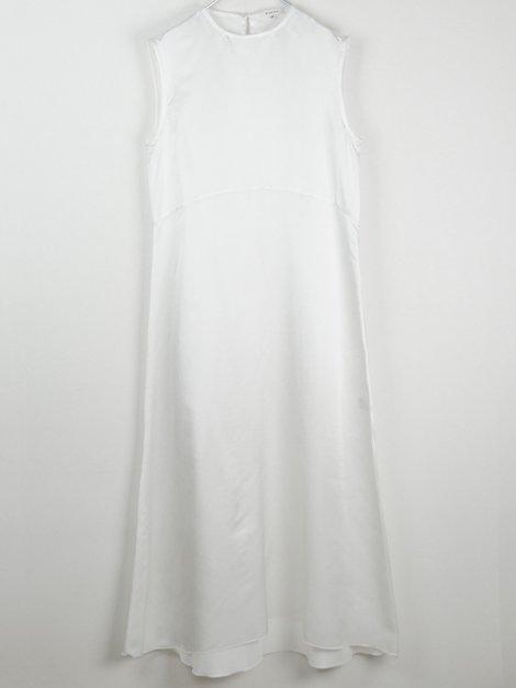 コットンシルクノースリーブドレス