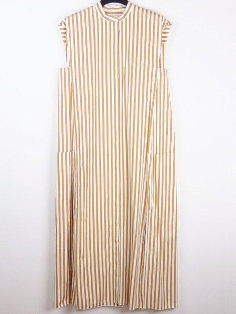 20SS ノースリーブストライプシャツドレス