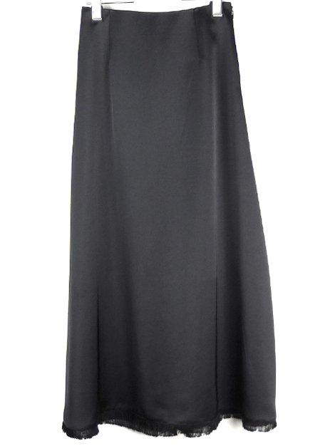 20AW 裾フリンジサテンロングスカート