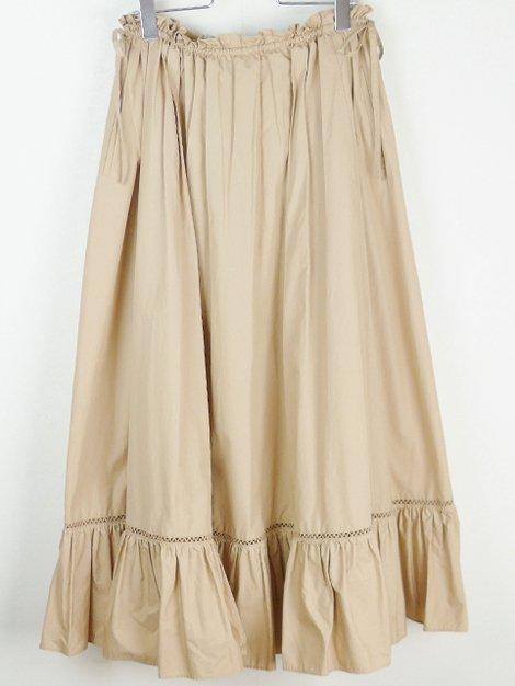 20SS ウェストギャザーリボンフレアスカート