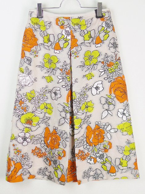 20SS フラワージャカードスカート