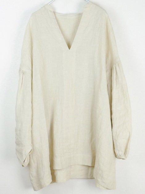 21SS slit neck over blouse
