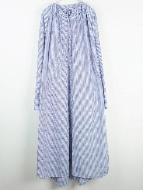 19SS ギャザーロングシャツドレス