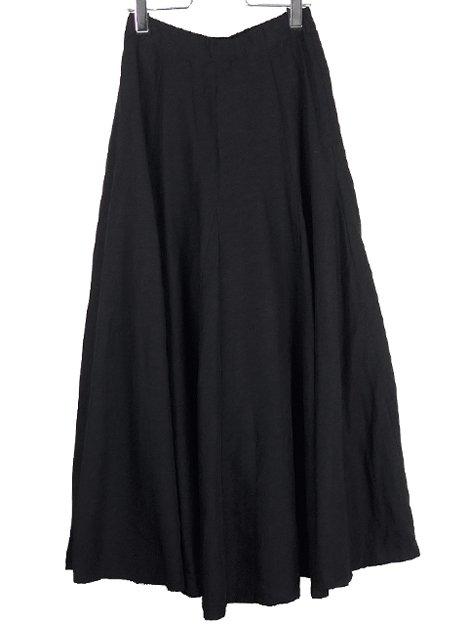 21SS Linen Flare Skirt Black