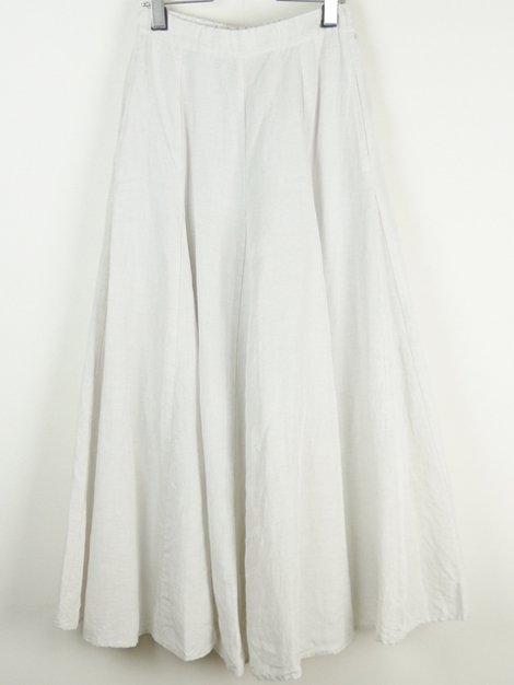 21SS Linen Flare Skirt White