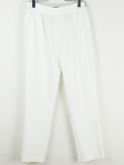 20SS ハイウエストギャザーパンツ ホワイト