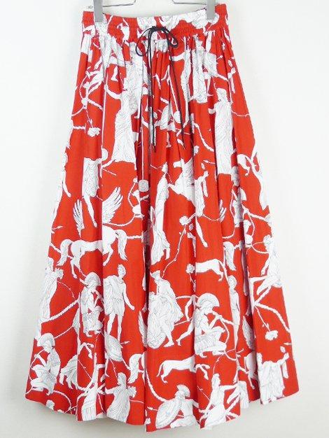 19SS ギリシャ柄ギャザースカート