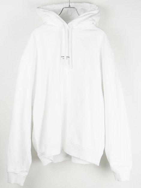 リバースロゴ入りフード付きスウェットシャツ ホワイト