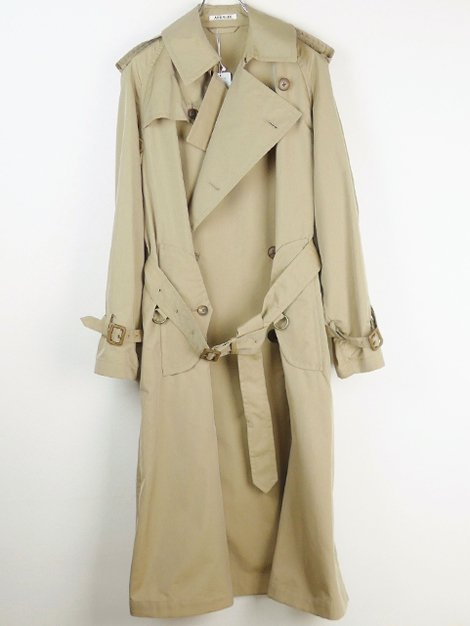 19SS FINX POLYESTER BIG TRENCH COAT