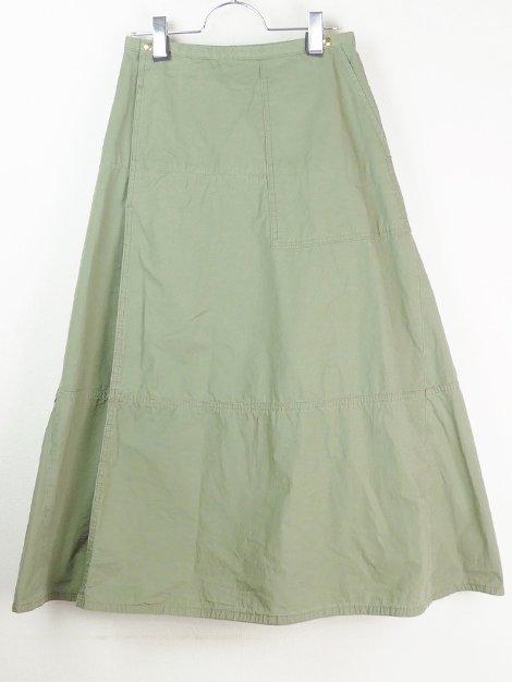 20SS コットンミリタリーフレアスカート