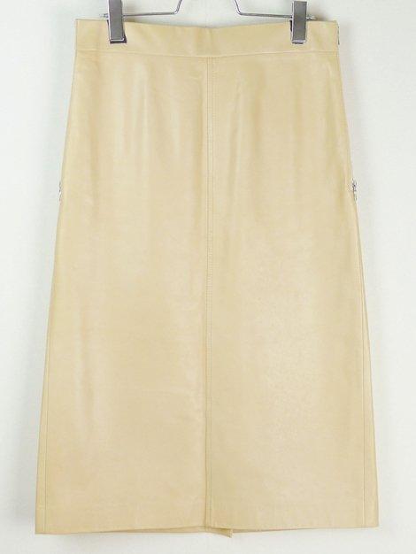 サイドジップポケット ラムレザースカート