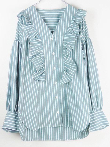 20SS ラッフルストライプシャツ
