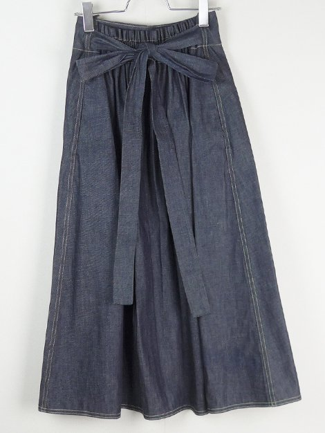 19SS ウエストリボンデニムスカート
