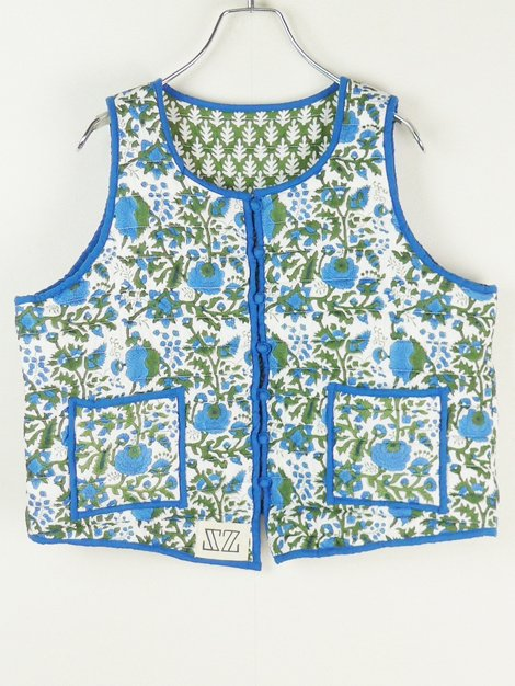 21AW Padra Print Quilted Hotel Boy Vest