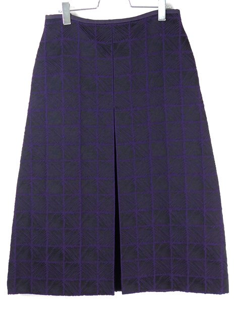 19AW テクスチャージャカードBOXスカート
