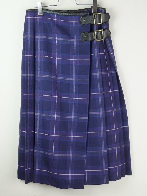 19AW チェックキルトプリーツスカート