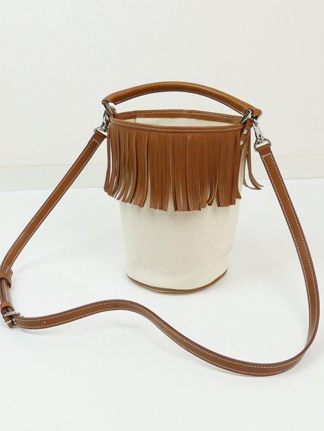 Fringe Bucket Bag/camel