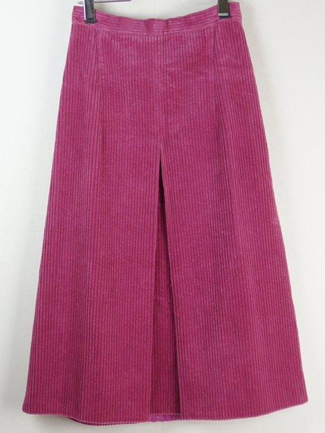 コーデュロイボックスプリーツスカート