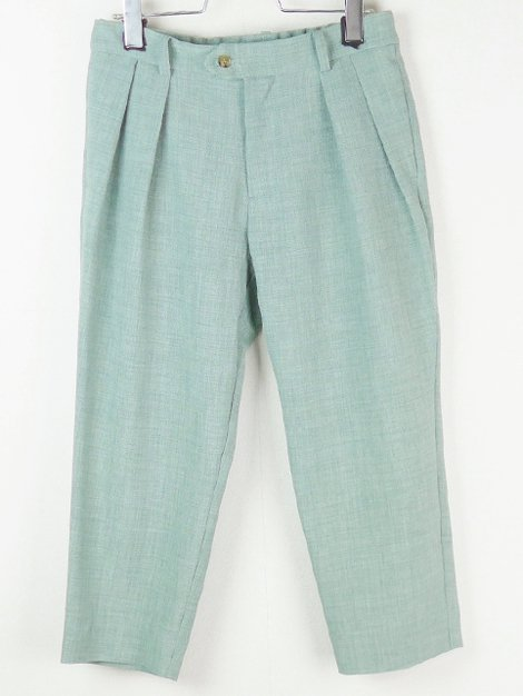 21SS Ankle Tuck Pants Green