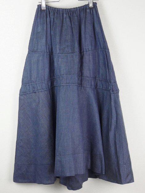 21SS リネンシャンブレーリボンスカート