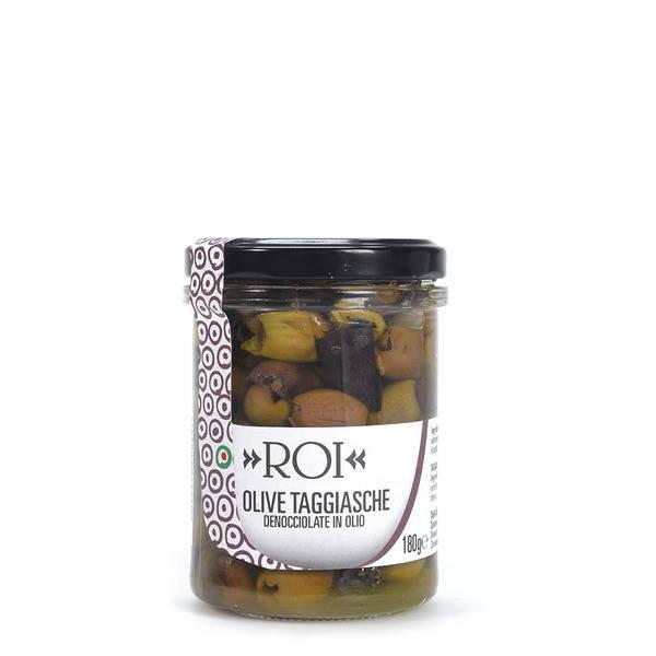 イタリア産オリーブの実の<br>EXVオリーブオイル漬け<br> 【ロイ・オリーブ】180g