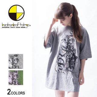 スチームパンクキャットビッグTシャツ(男女兼用)