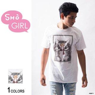 「SHO GIRL」グラフィックTシャツ Cat(男女兼用)