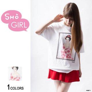 「SHO GIRL」グラフィックTシャツ Kimino(男女兼用)