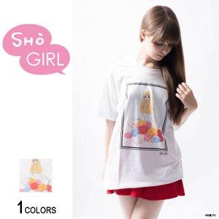 「SHO GIRL」グラフィックTシャツ Flower(男女兼用)