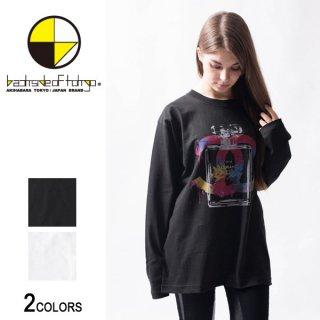 グラフィックロングTシャツ 香水02(男女兼用)