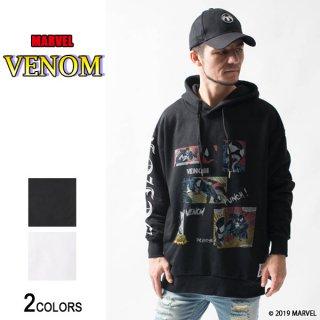 MARVEL『ヴェノム』コミック・レイアウト サイドジップ・ビッグパーカー(男女兼用)