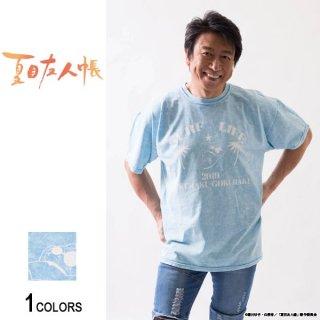 『夏目友人帳』井上和彦プロデュース ニャンコ先生「極楽」Tシャツ(ベイビーブルー)(男女兼用)