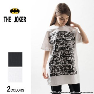 『THE JOKER』ジョーカー&ハーレイ・クイン WORDS Tシャツ(男女兼用)