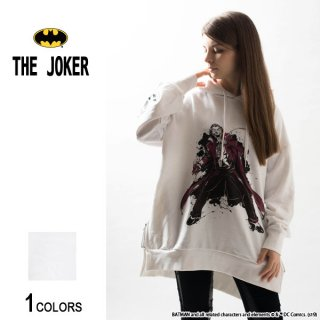 『THE JOKER』ジョーカー HAHAHAHA サイドジップ・ビッグパーカー(男女兼用)