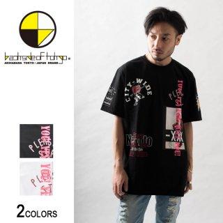 グラフィティ&シートプリントTシャツ(男女兼用)