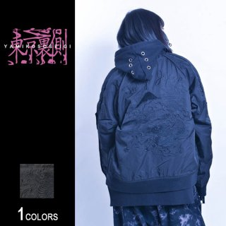 『東京裏側』袖ZIP切り替え刺繍スカジャン Dragon Ver.(男女兼用)